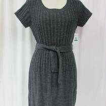 Nwt Jessica Simpson Sweater Dress Size Large Scoopneck Heather Grey at Knee 79 Photo