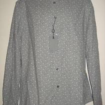 Nwt John Varvatos Casual Shirt Micro Corduroy Cotton Griffin Sz L  198 Photo