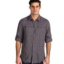 Nwt John Varvatos Men's S John Varvatos Gingham Zip Pocket Shirt L/s Woven 165 Photo