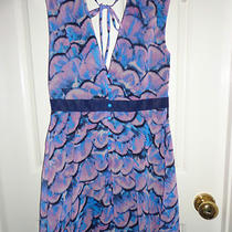 Nwt Johnny Martin Sleeveless Dress Lavender & Aqua Blue Size 1 Photo