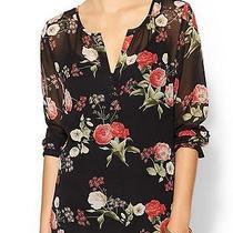 Nwt Joie 258 Floral Print Silk Maurelle Top Blouse Sz S Photo