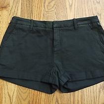 Nwt Joie Alexandria Cotton Cuffed Shorts Black  Sz 8 Photo