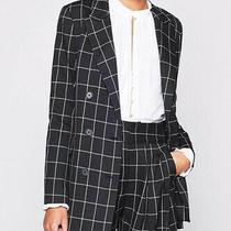 Nwt Joie Harlene Check Blazer Jacket Black White Size 0 448 Photo