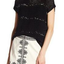 Nwt Joie Jacinte Embellished Crochet Top Black Blouse Women's Small S 278 Photo