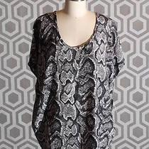 Nwt Joie Joann F Snake Print Silk Blouse Shirt Medium M 198 Caviar Photo