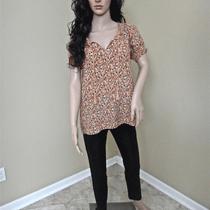 Nwt Joie Masha Taffy Pineapple Print Silk v Neck String Tassel Top Xsmall 208 Photo