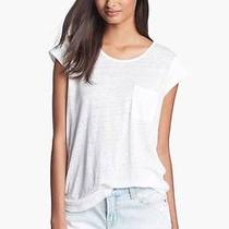 Nwt Joie Rancher D. Pocket Tee/top Linen Cream/porcelain Sz S Photo