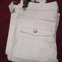 Nwt Joie Womens Porcelain So-Real Bootcut Carpenter Pocket Pants 24 208 New Photo
