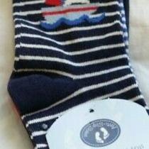 Nwt Jojo Maman Bebe Nautical 3-Pack Socks Size 6-12 Month Photo