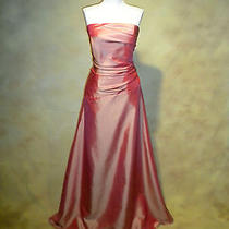 Nwt Jordan 319 Blush Salmon Taffeta Prom Bridesmaid Evening Gown Sz 6 030 Photo