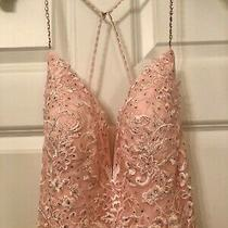 Nwt Jovani Pageant/ Prom Full Length Dress Size 8 Blush Soft Pink Photo