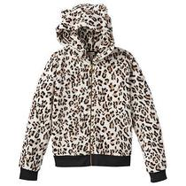 Nwt Juicy Couture Bear Ear Plush Hoodie Leopard or White  - Girls Photo