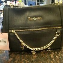 Nwt Juicy Couture Black Seas the Day Shoulder Bag Purse Satchel Crossbody 99 Photo