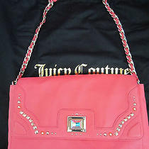 Nwt Juicy Couture Crystal Freya Jeweled Flap Front Leather Bag in Bombshell 268 Photo