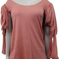 Nwt Juicy Couture Knot Sleeve Jersey Top Blouse Hush Blush Pink Size S Photo