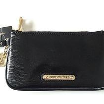 Nwt Juicy Couture Leather Wristlet Clutch Gold Plated Hardware Ysruo222 Photo