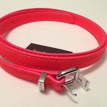 Nwt Juicy Couture Neon Skinny Belt Size M Best Sale Price Photo
