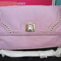 Nwt Juicy Couture Orchid Crystal Freya Jeweled Flap Front Leather Bag Yhru3489 Photo