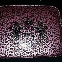 Nwt Juicy Couture Pink & Black Leopard Print  Laptop Computer Bag Photo