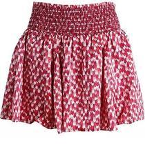 Nwt Juicy Couture Raindrop Chevron Silk Mini Skirt Petal Blush Red S Black Label Photo