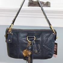 Nwt Juicy Couture Regal Blue Leather Charm Pendant Small Hobo Purse 228 Photo