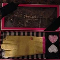 Nwt Juicy Couture Yellow Pink Texting Gloves Iphone 5 Crystal Case Msrp 78 Photo