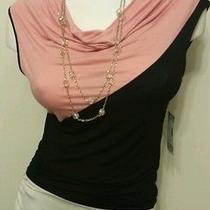Nwt Junior Bongo Sleeveless Pastel Rose Blush Top W/necklace Sz L Msrp 30.00 Photo