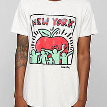 Nwt Junk Food for Urban Outfitters  Keith Haring Ny Apple Raw Curved Hem Tee  S Photo