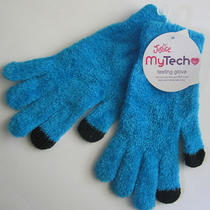 Nwt Justice My Tech Aqua Blue Black Girls Texting Glove Warm Hands One Size New Photo