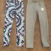 Nwt Justice Tie Dye & Old Navy Grey Girls Leggings Size 12 Photo