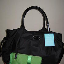 Nwt Kate Spade Basic Nylon Stevie Diaper Baby Bag Black Photo