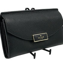 Nwt Kate Spade Braxton Place Jean Wallet Clutch Black Leather Luxe Designer Photo