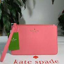 Nwt Kate Spade Eli White Street Bright Pink Wristlet Clutch Retail 79 Photo
