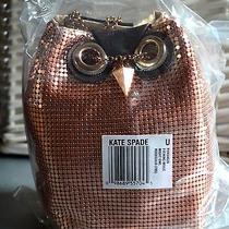 Nwt Kate Spade Evening Belle Night Owl Metallic Purse - Gorgeous Rose Gold Photo