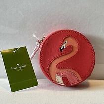 Nwt Kate Spade Flamingo Take a Walk on the Wild Side Coin Purse Photo