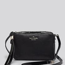 Nwt Kate Spade Highliner Clover Crossbody 155 Black Leather Handbag Photo