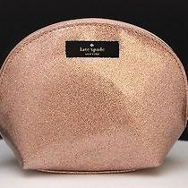 Nwt Kate Spade Keri Terrace Street Sparkle Rose Gold 680 Makeup Cosmetic Bag Photo