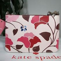 Nwt Kate Spade Leather Eva Nouveau Bloom Chain Crossbody Bag Pink Multi Photo