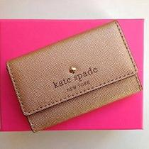 Nwt Kate Spade Mikas Pond Holly Mini Wallet Card Case Rose Gold  Gift Box Photo