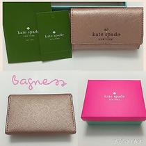 Nwt Kate Spade Mikas Pond Holly Mini Wallet Card Case Rose Gold W/ Gift Box 58 Photo