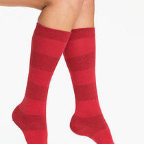 Nwt Kate Spade New York Knee Socks Lacquer Red Shimmer Metallic  Photo