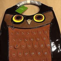 Nwt Kate Spade Owl Animal Tote Handbag Maximilian Maxwell Purse Suede Leather Photo