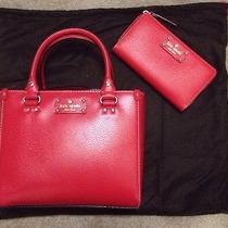 Nwt Kate Spade Small Quinn Wellesley Handbag Neda Wallet Lacquer Red 440 Lot Photo