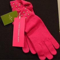 Nwt Kate Spade Stud Knit Gloves in a Flurry Psru 1255 Photo