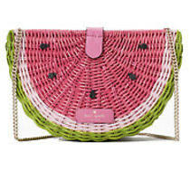 Nwt Kate Spade Watermelon Wicker Rattan Lemon Purse New Photo