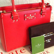Nwt Kate Spade Wellesley Small Quinn Handbag in Lacquer Red Wkru2723 Photo