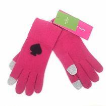 Nwt Kate Spade Womens Os Begonia Bloom Winter Gloves Logo Tech Friendly Pink Photo