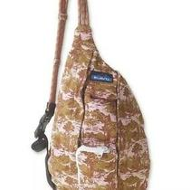 Nwt Kavu Mini Rope Bag Cotton Crossbody Sling Backpack Blush Landscape Festival Photo