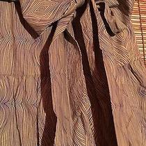 Nwt Keds Cotton Green & Blue Wood Grain Tiered Aline Skirt Tie Belt S 2 Photo