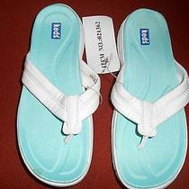 Nwt Keds Joely 6m White Thong Sandals 1
